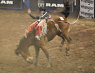 April 5, 2013: The PRCA (Professional Rodeo Cowboys Association) cowboys compete in day 2 events at the Ram National Circuit Finals Rodeo in Oklahoma City (OKC).  The championship event is being held at Jim Norick Arena on the Oklahoma State Fairgrounds.