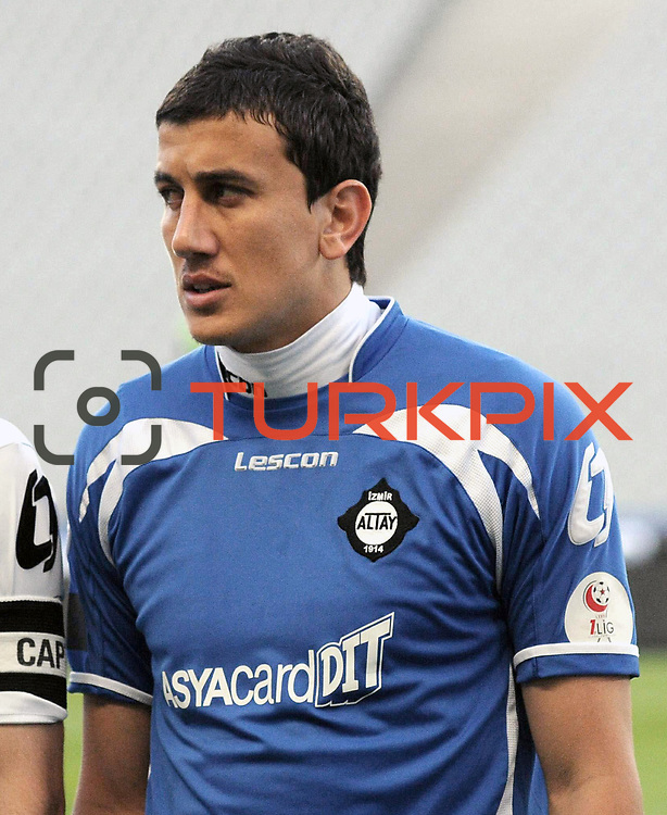 Altayspor's goalkeeper Soner SAHIN during their Play Off First leg match at Ataturk olympic Stadium in Istanbul Turkey on Monday, 17 May 2010. Photo by TURKPIX