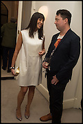 mariana clayton; joe scotland, Frieze dinner  hosted at by Valeria Napoleone for  Marvin Gaye Chetwynd, Anne Collier and Studio Voltaire 20th anniversary autumn programme. Kensington. London. 14 October 2014.