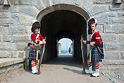 Traditional dressed guards in Fort George,  Citadel Hill, a National Historic Site, Halifax, Nova Scotia, Canada