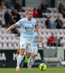 Jonas Henriksen (FC Helsingør) under kampen i 1. Division mellem FC Fredericia og FC Helsingør den 4. oktober 2020 på Monjasa Park i Fredericia (Foto: Claus Birch).