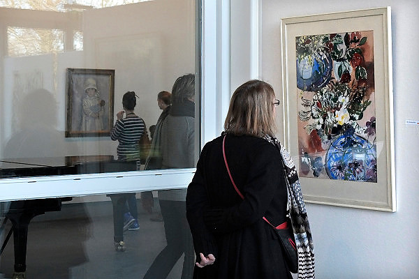 Nederland, Laren, 15-1-2012Vanwege de grote belangstelling is de tentoonstelling in het Singer museum over schilder Jan Sluijters verlengd. Het bloemenschilderij is niet van Sluiters.Foto: Flip Franssen/Hollandse Hoogte