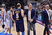 DESCRIZIONE : Beko Legabasket Serie A 2015- 2016 Dinamo Banco di Sardegna Sassari - Manital Auxilium Torino<br /> GIOCATORE : Jacopo Giacchetti Federico Pasquini<br /> CATEGORIA : Fair Play Postgame<br /> SQUADRA : Dinamo Banco di Sardegna Sassari<br /> EVENTO : Beko Legabasket Serie A 2015-2016<br /> GARA : Dinamo Banco di Sardegna Sassari - Manital Auxilium Torino<br /> DATA : 10/04/2016<br /> SPORT : Pallacanestro <br /> AUTORE : Agenzia Ciamillo-Castoria/L.Canu