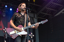 June 30, 2018 - Milwaukee, Wisconsin, U.S - SAM GETZ of Welshly Arms performs live at Henry Maier Festival Park during Summerfest in Milwaukee, Wisconsin (Credit Image: © Daniel DeSlover via ZUMA Wire)