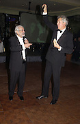 Omar Sharif and Henry Wyndham. Chain of Hope 10 th Ball. Dorchester. London. 1 November  2005. ONE TIME USE ONLY - DO NOT ARCHIVE © Copyright Photograph by Dafydd Jones 66 Stockwell Park Rd. London SW9 0DA Tel 020 7733 0108 www.dafjones.com