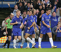 Photo: Lee Earle.<br /> Chelsea v Newcastle United. The Barclays Premiership.<br /> 19/11/2005. Chelsea's Jole Cole celebrates scoring their opening goal.