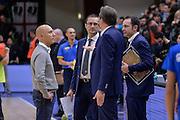 DESCRIZIONE : Eurolega Euroleague 2015/16 Group D Dinamo Banco di Sardegna Sassari - Maccabi Fox Tel Aviv<br /> GIOCATORE : Stefano Sardara Massimo Maffezzoli Federico Pasquini Paolo Citrini<br /> CATEGORIA : Fair Play Postgame<br /> SQUADRA : Dinamo Banco di Sardegna Sassari<br /> EVENTO : Eurolega Euroleague 2015/2016<br /> GARA : Dinamo Banco di Sardegna Sassari - Maccabi Fox Tel Aviv<br /> DATA : 03/12/2015<br /> SPORT : Pallacanestro <br /> AUTORE : Agenzia Ciamillo-Castoria/L.Canu