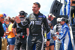 July 29, 2018 - Long Pond, PA, U.S. - LONG POND, PA - JULY 29:  Monster Energy NASCAR Cup Series driver Matt DiBenedetto Dude Wipes Ford (32) during driver introductions prior to the Monster Energy NASCAR Cup Series - 45th Annual Gander Outdoors 400 on July 29, 2018 at Pocono Raceway in Long Pond, PA. (Photo by Rich Graessle/Icon Sportswire) (Credit Image: © Rich Graessle/Icon SMI via ZUMA Press)