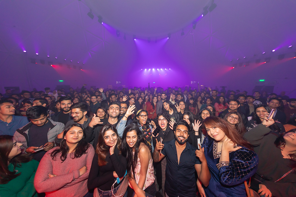 Fans at the Prateek Kuhad concert in Dubai, DSF 2020