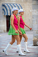 Majorettes Kotor, Montenegro .<br /> <br /> Visit our MONTENEGRO HISTORIC PLAXES PHOTO COLLECTIONS for more   photos  to download or buy as prints https://funkystock.photoshelter.com/gallery-collection/Pictures-Images-of-Montenegro-Photos-of-Montenegros-Historic-Landmark-Sites/C0000AG8SdQ.sYLU