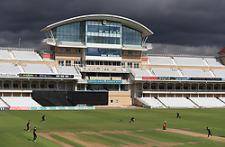North's Harry Swindells is clean bowled during the 100 Ball Trial match at Trent Bridge, Nottingham.