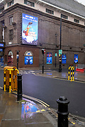The Prince Edward Theatre which, prior to the Coronavirus pandemic, was showing the Mary Poppins musical on Soho's Old Compton Street in the heart of the West End's Theatreland, remains closed during England's third lockdown, on 22 February 2021, in London, England.