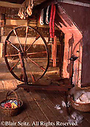 Southwest PA Somerset Historical Center, Early American Spinning Wheel, Somerset Co.