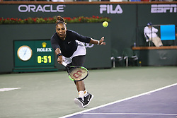 March 8, 2019 - Indian Wells, CA, U.S. - INDIAN WELLS, CA - MARCH 08: Serena Williams (USA) lunges to hit a forehand during the BNP Paribas Open on March 8, 2019 at Indian Wells Tennis Garden in Indian Wells, CA. (Photo by George Walker/Icon Sportswire) (Credit Image: © George Walker/Icon SMI via ZUMA Press)