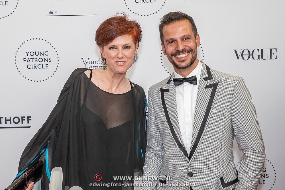 NLD/Amsterdam/20190628 - inloop International Young Patrons Gala 2019, Chazia Mourali en Juanjo Arques