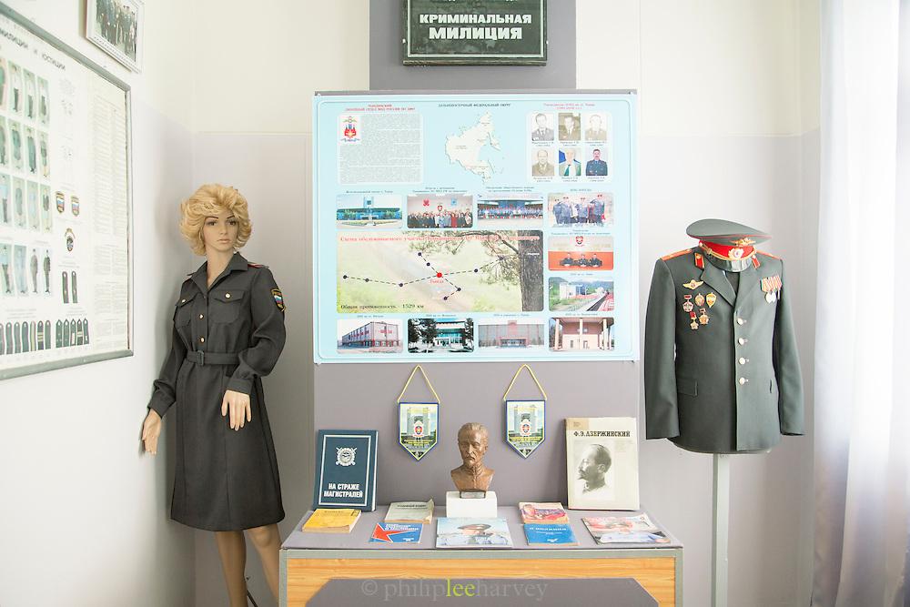 Interior of the Tynda Museum. Tyndra, Siberia, Russia