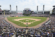 CHICAGO - JULY 07:  A general view of Guaranteed Rate Field as a crowd of 38,554 watch Jose Abreu #79 of the Chicago White Sox hit a home run during the game between the Chicago White Sox and Chicago Cubs on July 7, 2019 at Guaranteed Rate Field in Chicago, Illinois.  (Photo by Ron Vesely)  *** Local Caption *** Jose Abreu