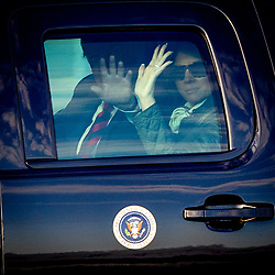 President Donald J. Trump and First Lady Melania Trump and Air Force One Arrival Glasgow, United Kingdom.