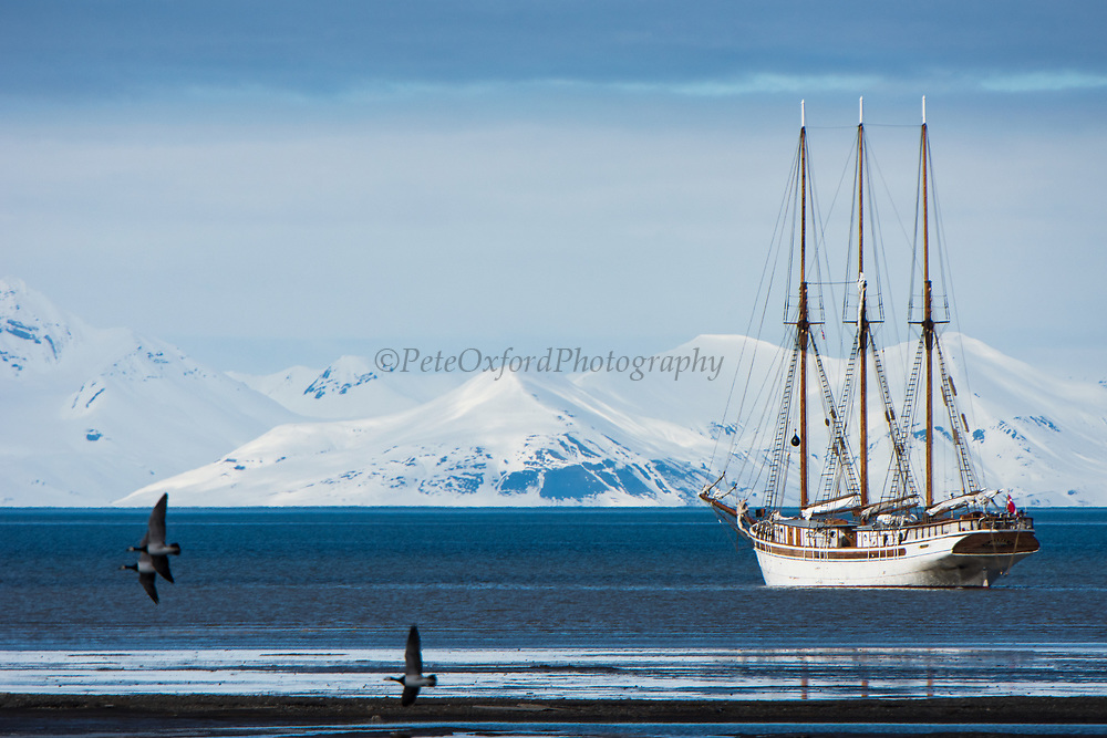 Sail boat<br /> Longyearbyen<br /> Svalbard<br /> Norway<br /> Arctic Ocean
