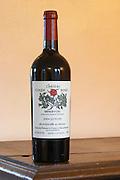 Chateau Coupe Roses, La Caunette. Les Plots. Minervois. Languedoc. France. Europe. Bottle.