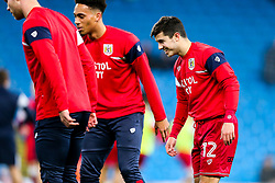 Liam Walsh of Bristol City warms up - Rogan/JMP - 09/01/2018 - Etihad Stadium - Manchester, England - Manchester City v Bristol City - Carabao Cup Semi Final First Leg.