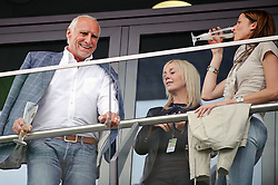 14.05.2011, Red Bull Ring, Spielberg, AUT, RED BULL RING, SPIELBERG, EROEFFNUNG, im Bild Didi Mateschitz mit seiner Freundin Marion Feichtner (rechts) // Didi Mateschitz with his girlfriend Marion Feichtner (right) during the official Opening for the Red Bull Circuit in Spielberg, Austria, 2011/05/14, EXPA Pictures © 2011, PhotoCredit: EXPA/ S. Zangrando