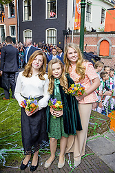 Princess Amalia , Princess Ariane and Princess Alexia attending King's Day Celebrations in Groningen, Netherlands, on April 27, 2018. Photo by Robin Utrecht/ABACAPRESS.COM