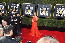 January 6, 2019 - Los Angeles, California, U.S. - Jan 6, 2019 - Beverly Hills, California, U.S. - Natalie Morales during red carpet arrivals for the 76th Annual Golden Globe Awards at The Beverly Hilton Hotel..(Credit: © Kevin Sullivan via ZUMA Wire) (Credit Image: © Kevin Sullivan via ZUMA Wire)