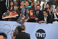 January 27, 2019 - Los Angeles, California, U.S - FANS HOPING FOR AUTOGRAPHS during silver carpet arrivals for the 25th Annual Screen Actors Guild Awards, held at The Shrine Expo Hall. (Credit Image: © Kevin Sullivan via ZUMA Wire)