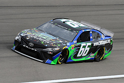 March 1, 2019 - Las Vegas, NV, U.S. - LAS VEGAS, NV - MARCH 01: Joey Gase (66) Carl Long Toyota Camry drives through turn four during practice for the Monster Energy NASCAR Cup Series 22nd Annual Pennzoil 400 on March 1, 2019, at the Las Vegas Motor Speedway in Las Vegas, Nevada. (Photo by Michael Allio/Icon Sportswire) (Credit Image: © Michael Allio/Icon SMI via ZUMA Press)