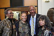 29 October 2010- Harlem, New York- l to r: Dr. Camille Yearbough, Ntozake Shange, Playwright and Poet, Howard Dodson, Chief, Schomburg Center and Dr. Sonia Sanchez at The Acquisition of the Maya Angelou Collection of Personal Papers and Materials Documenting 40 years of the Writer's Literary Career held at the Schomburg Center on October 29, 2010 in Harlem, USA. Photo Credit: Terrence Jennings