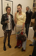 Alice Dellal and Paloma Gormley. Bailey's Democracy, Photographs by Daivid Bailey. Faggionato Fine Arts. 13 December 2005. ONE TIME USE ONLY - DO NOT ARCHIVE  © Copyright Photograph by Dafydd Jones 66 Stockwell Park Rd. London SW9 0DA Tel 020 7733 0108 www.dafjones.com