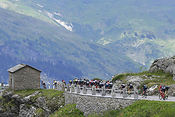 June 15, 2017 - Locarno / La Punt, Suisse - Illustration picture of the peloton Landscape Bunch Postcard Post card Paysage Carte Postale landschap briefkaart  during stage 6 of the Tour de Suisse cycling race, a stage of 166 kms between Locarno and La Punt on June 15, 2017 in La Punt, Switserland, 15/06/2017 (Credit Image: © Panoramic via ZUMA Press)
