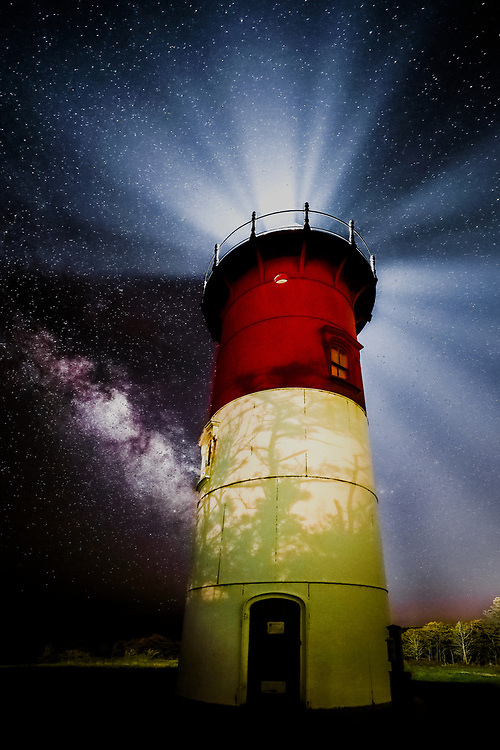 Nauset Light located along the Cape Cod National Seashore  at Nauset Lighthouse Beach in Eastham, Massachusetts.<br /> <br /> Nauset Light Milky Way photography images are available as museum quality photography prints, canvas prints, acrylic prints, wood prints or metal prints. Fine art prints may be framed and matted to the individual liking and decorating needs:<br /> <br /> https://juergen-roth.pixels.com/featured/milky-way-at-nauset-light-juergen-roth.html<br /> <br /> Good light and happy photo making!<br /> <br /> My best,<br /> <br /> Juergen