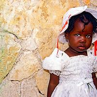 Little girl in Haiti from an orphanage.