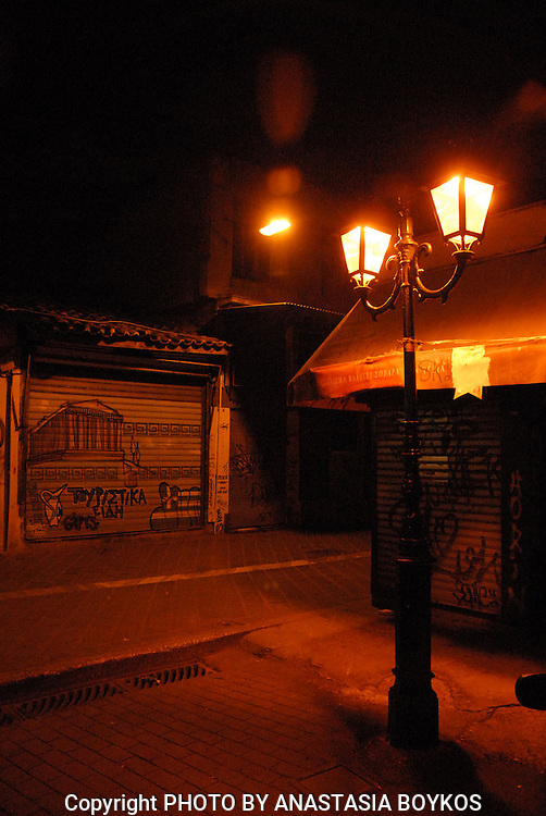 Capture the emotion!!! <br /> <br /> Loneliness...<br /> <br /> Monastiraki by night.