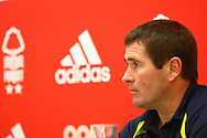 Burton Albion manager Nigel Clough gives a post-match press conference during the EFL Sky Bet Championship match between Nottingham Forest and Burton Albion at the City Ground, Nottingham, England on 21 October 2017. Photo by John Potts.