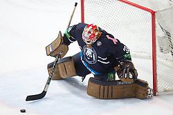 Barry Brust (KHL Medvescak Zagreb, #33) during KHL League ice hockey match between KHL Medvescak Zagreb and Amur Kharabovsk, on October 28, 2013 in Dvorana Sportova, Zagreb, Croatia. (Photo By Matic Klansek Velej / Sportida)