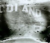 November 1923 Hollywoodland sign under construction