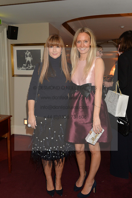 Left to right, DEBORAH LLOYD and MARTHA WARD at a dinner hosted by fashion label Kate Spade NY held at George, 87-88 Mount Street, London on 19th November 2014.