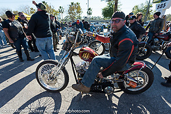 End of the day - Willie's Tropical Tattoo's annual Choppertime Old School bike show during Daytona Bike Week. Daytona Beach, FL. USA. Thursday March 16, 2017. Photography ©2017 Michael Lichter.
