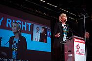21st International AIDS Conference (AIDS 2016), Durban, South Africa.<br /> Photo shows Charlize Theron, from the Charlize Theron Outreach Project, United States, speaking at the Opening Ceremony.<br /> Photo©International AIDS Society/Steve Forrest/Workers' Photos