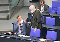 DEU, Deutschland, Germany, Berlin, 05.11.2020: Innen-Staatssekretär Stephan Mayer (CSU) und Bundesinnenminister Horst Seehofer (CSU) im Plenarsaal des Deutschen Bundestags.
