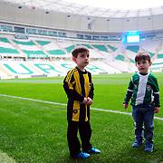 Bursaspor's and Fenerbahce's during their Turkish Super League soccer match Bursaspor between Fenerbahce at the Ataturk Stadium in Bursa Turkey on Saturday, 20 February 2016. Photo by TURKPIX