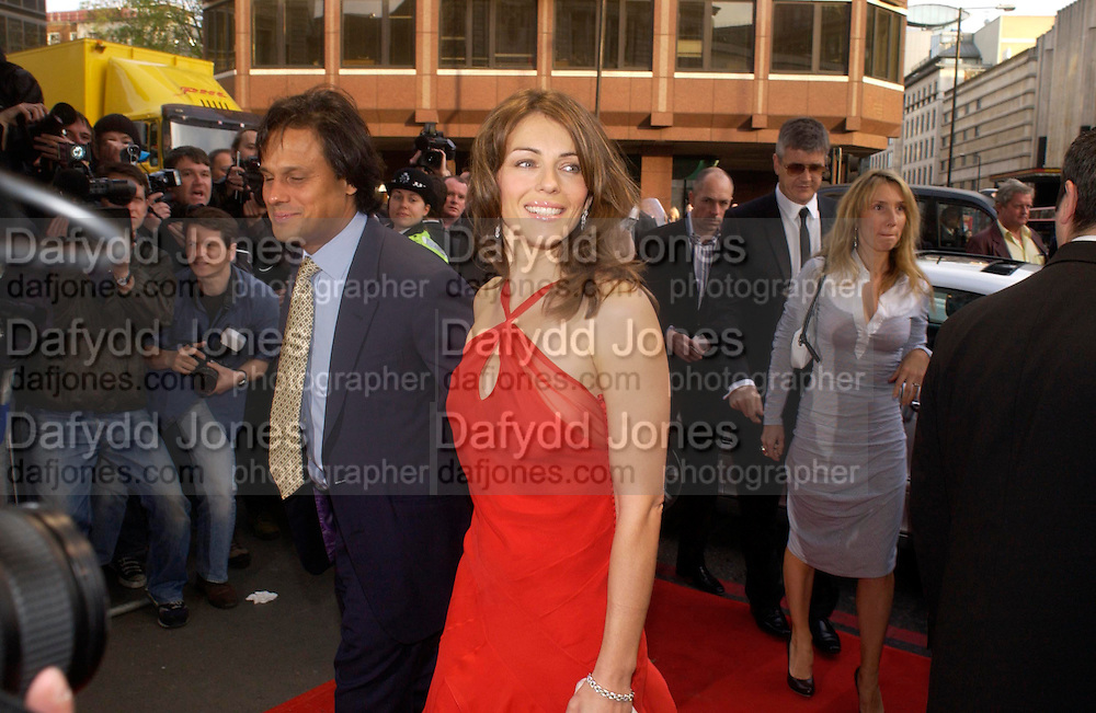 Arun Nayar and Elizabeth Hurley, Jay Jopling and Sam Taylor Wood.  Billy Elliot- The Musical opening night at the Victoria palace theatre and party afterwards at Pacha, London. 12 May 2005. ONE TIME USE ONLY - DO NOT ARCHIVE  © Copyright Photograph by Dafydd Jones 66 Stockwell Park Rd. London SW9 0DA Tel 020 7733 0108 www.dafjones.com