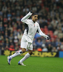 LIVERPOOL, ENGLAND - SUNDAY MARCH 27th 2005: Celebrity XI's Amir Khan during the Tsunami Soccer Aid match at Anfield. (Pic by David Rawcliffe/Propaganda)