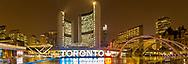 60912-00301 Nathan Phillips Square at night Toronto, Ontario Canada
