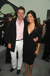 ALISON JACQUES and MIKE RUNDELL at the opening party for the new Alison Jacques Gallery, Berners Street, London followed by a party at the Sanderson Hotel, Berners Street on 3rd May 2007.<br />
