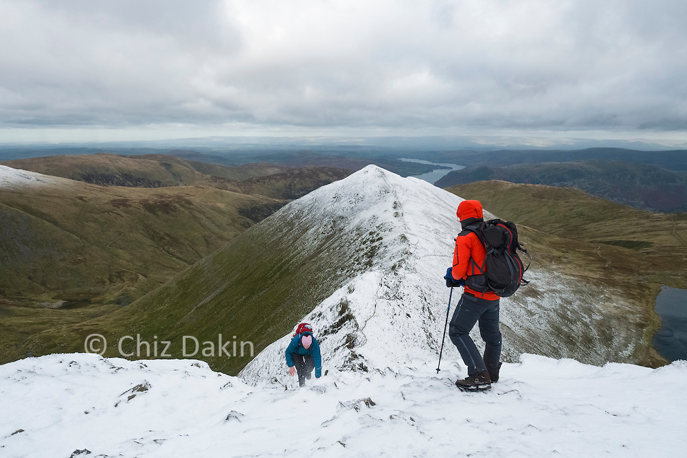 The place where Swirral Edge joins the summit plateau can be hard to see until you're right above it!
