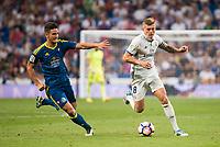 Real Madrid's player XXX and Celta de Vigo's player XXX during a match of La Liga Santander at Santiago Bernabeu Stadium in Madrid. August 27, Spain. 2016. (ALTERPHOTOS/BorjaB.Hojas)